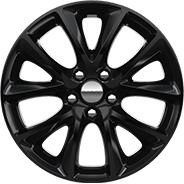 20‑inch High Gloss black aluminum