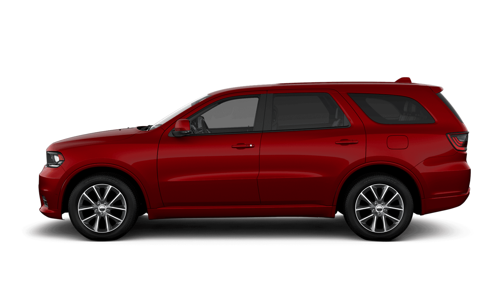 2019 Dodge Durango sideview with 20-inch platinum chrome aluminum wheels