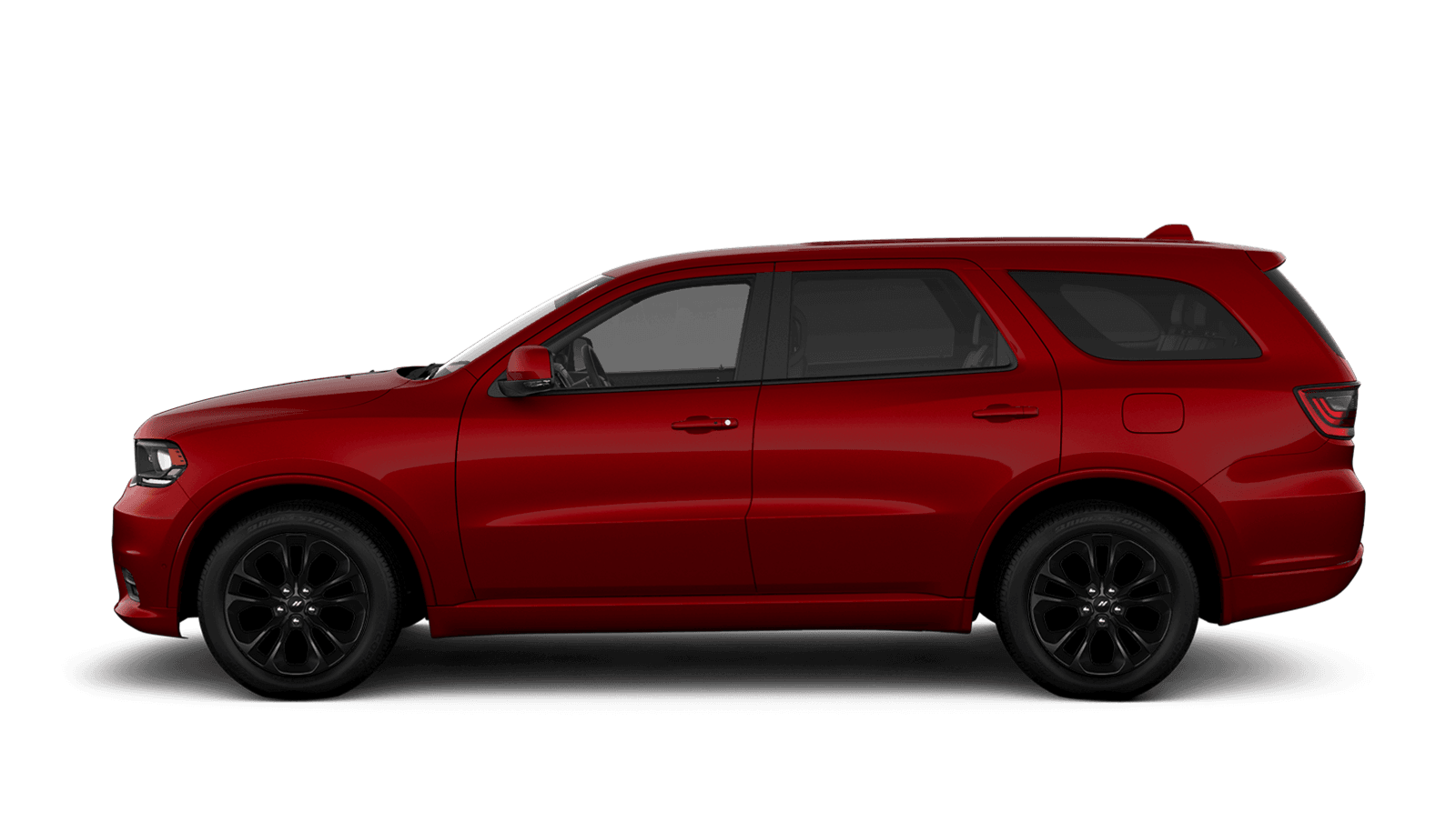 2019 Dodge Durango sideview with 20-inch High Gloss black aluminum