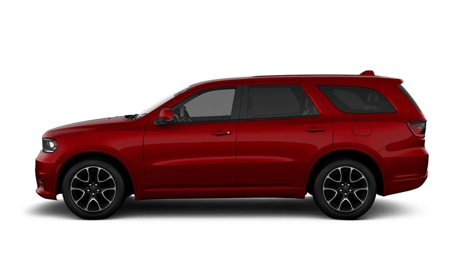 2021 Dodge Durango sideview with 20-inch machined aluminum with Dark pocket wheels