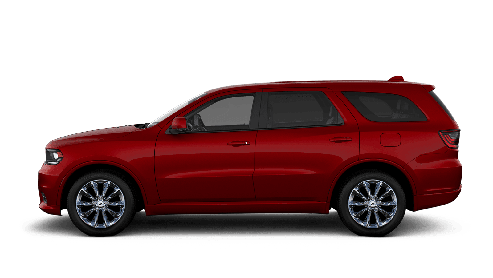 2021 Dodge Durango sideview with 20-inch Platinum Chrome aluminum wheels