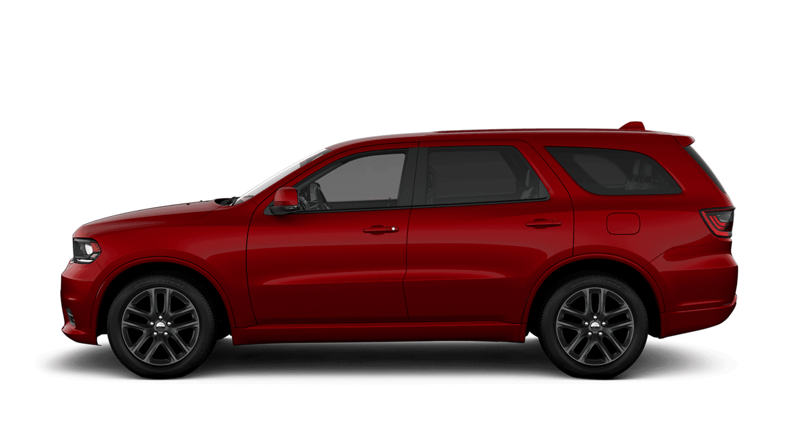 2021 Dodge Durango sideview with 20-inch Hyper Black aluminum wheels