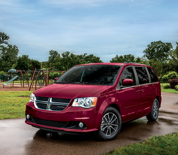 Dodge Grand Caravan 2017 illustrée en rouge
