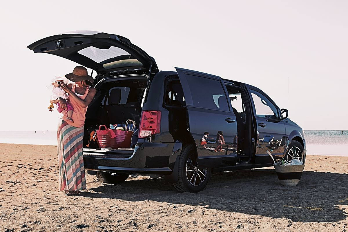 2019 Dodge Grand Caravan exterior view with power liftgate