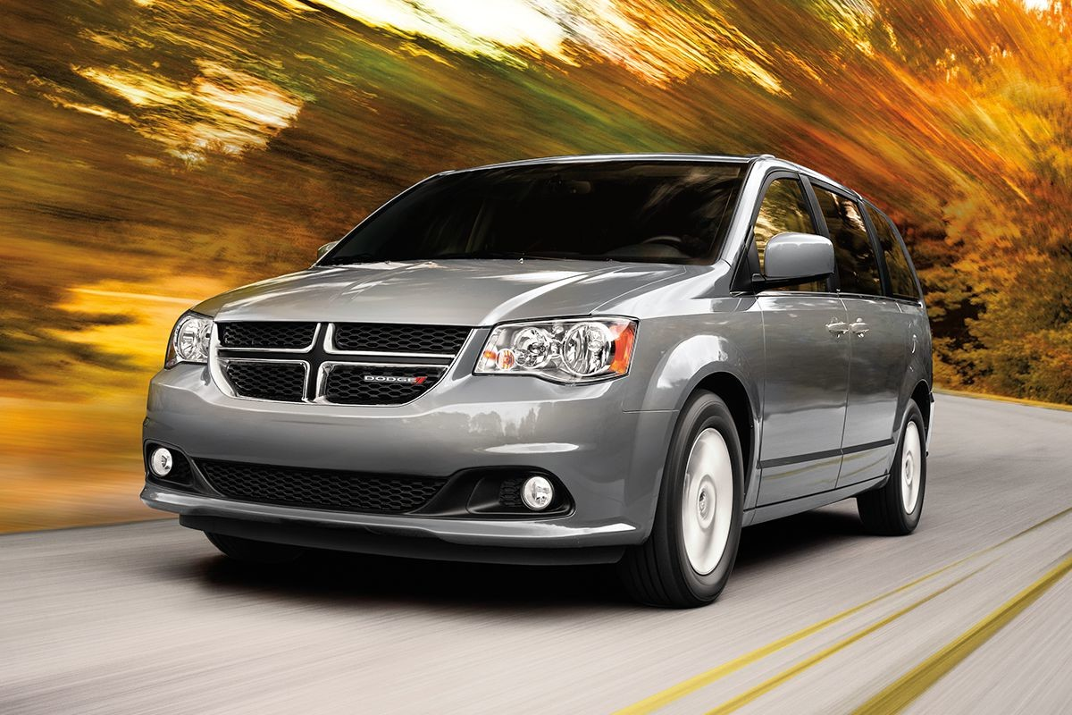 2019 Dodge Grand Caravan exterior view in grey driving