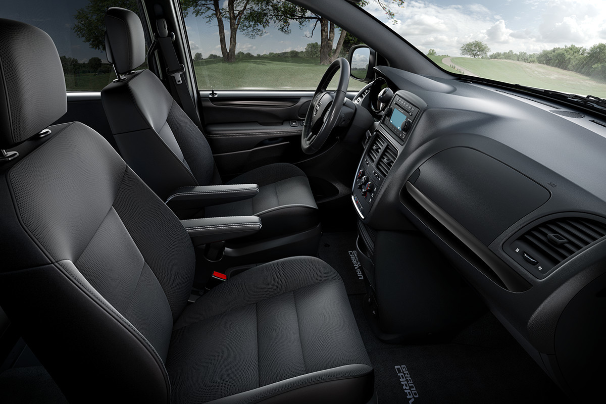 2019 Dodge Grand Caravan interior view black seats