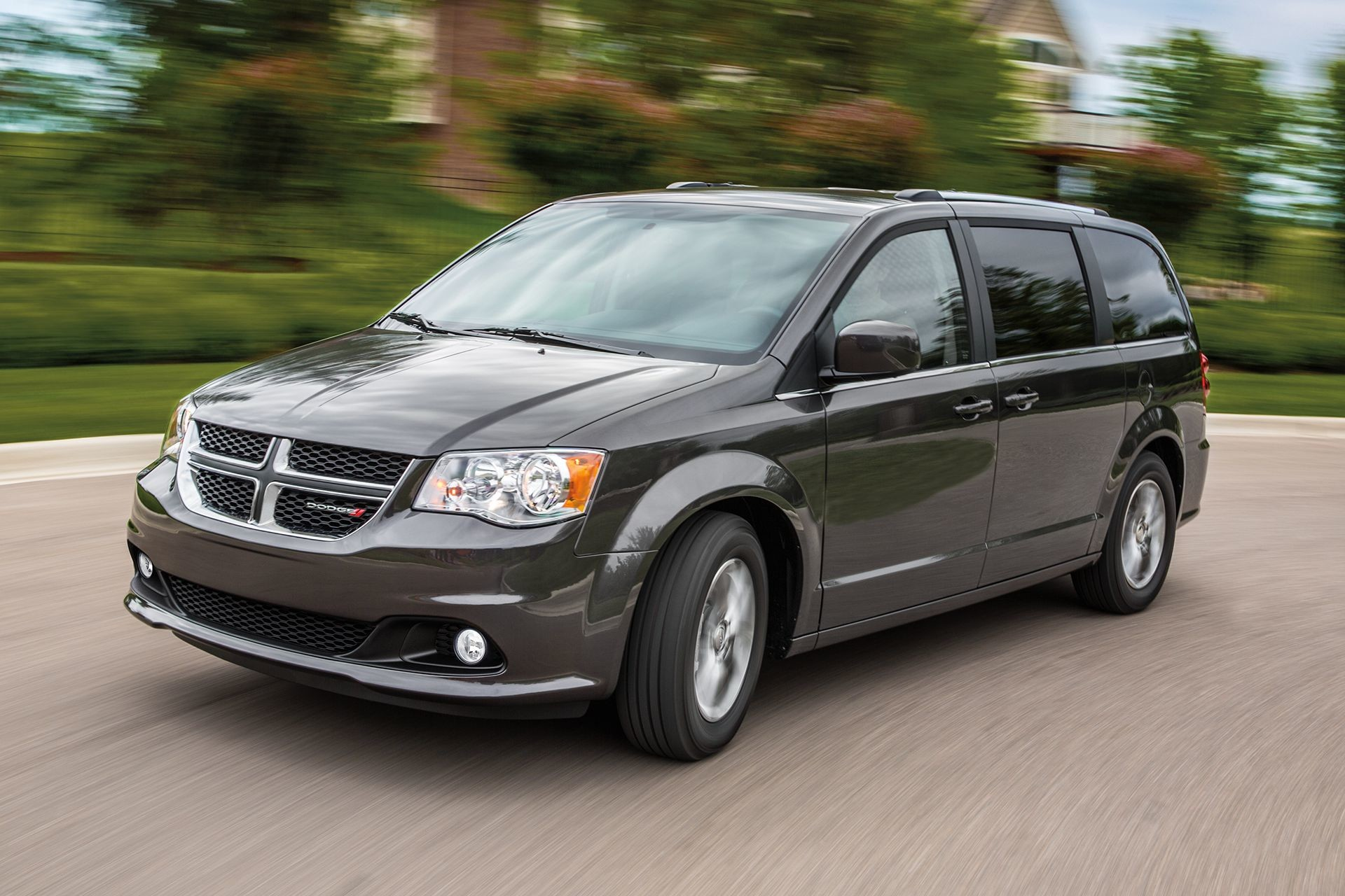 2019 Dodge Grand Caravan exterior view in dark grey driving