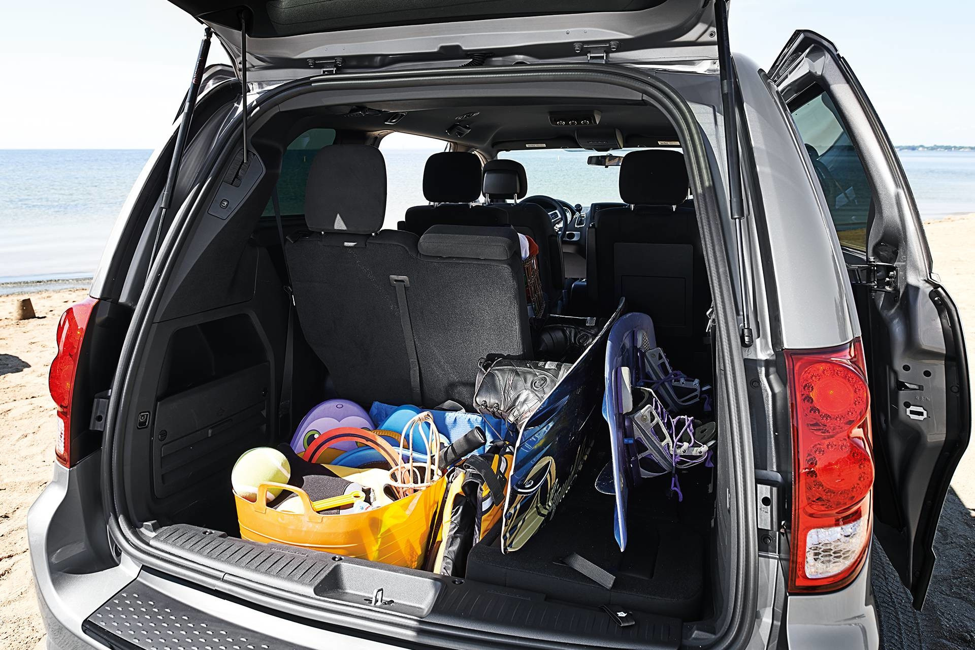 2019 Dodge Grand Caravan interior view of storage with seats down