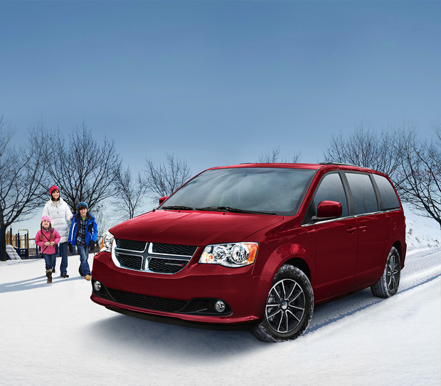2019 Dodge Grand Caravan exterior view in Red