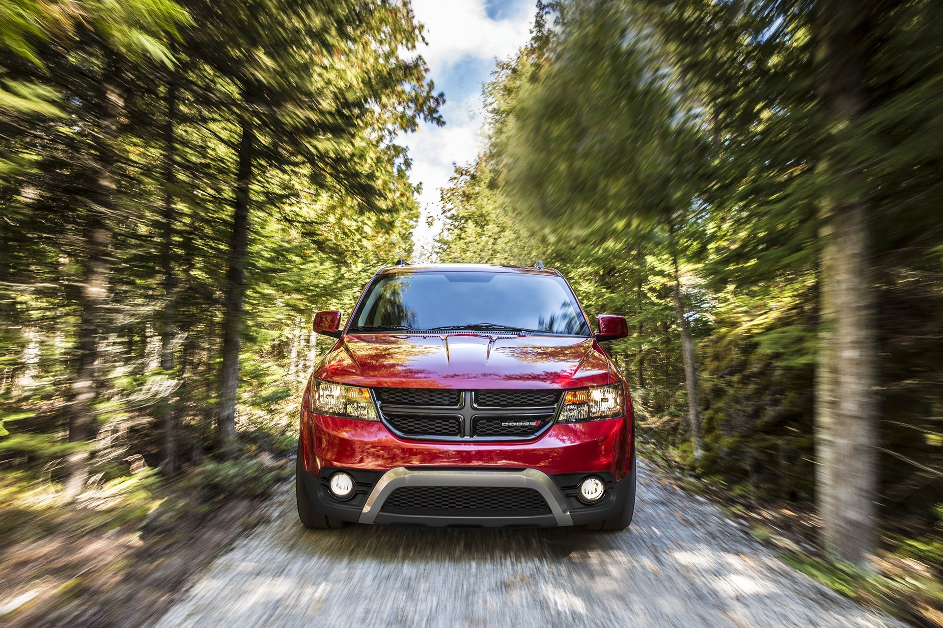 2018 Dodge Journey, front view, close-up of  grille