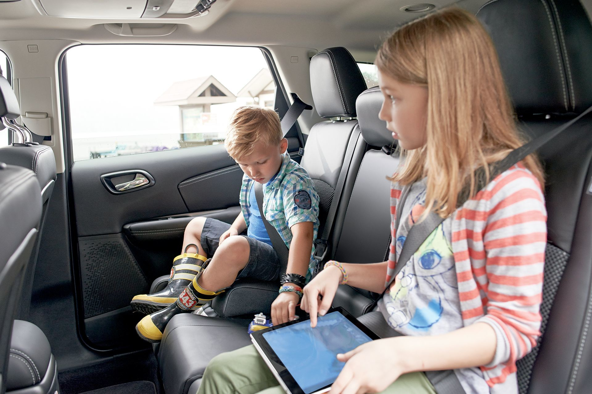 2018 Dodge Journey Class-Exclusive integrated child booster seats