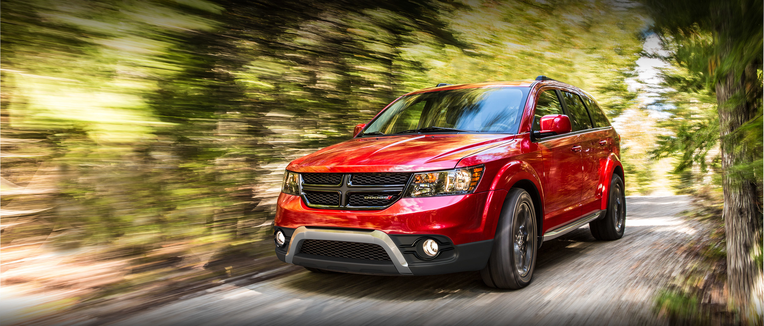 2018 Dodge journey, bright red exterior, side view