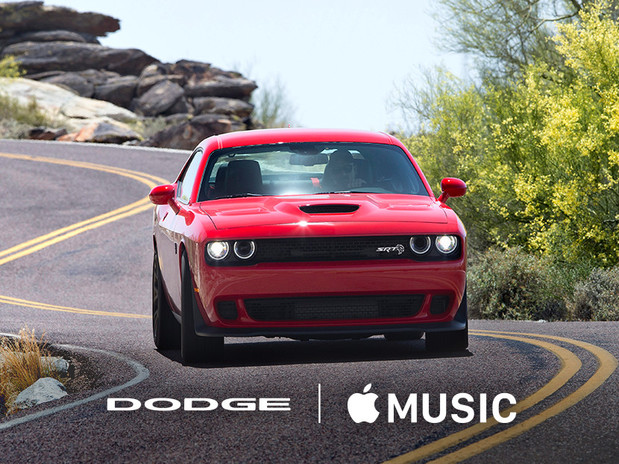 2018 Dodge Challenger SRT Red Front View with Apple Music Experience