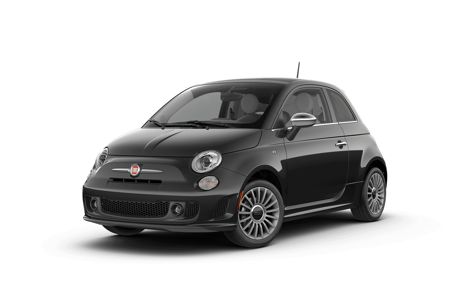 2018 FIAT 500 Full View in Dark Grey with Wheels