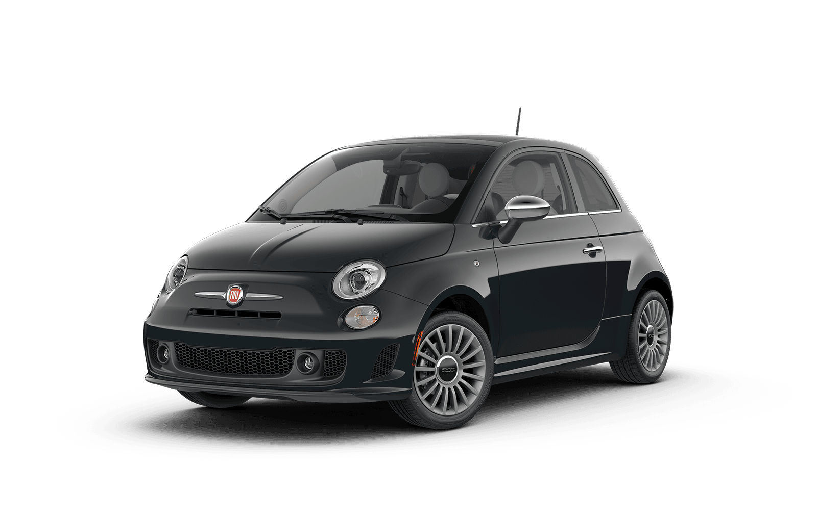 2018 FIAT 500 Full View in Blue Grey with Wheels