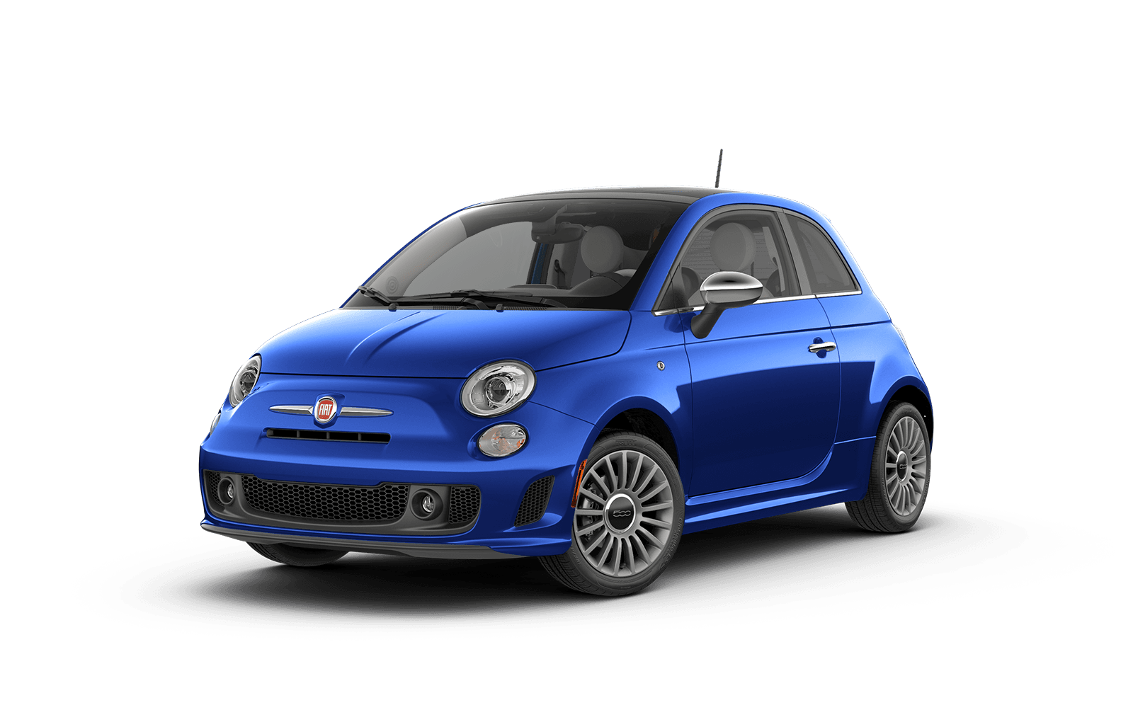 2018 FIAT 500 Full View in Bright Blue with Wheels