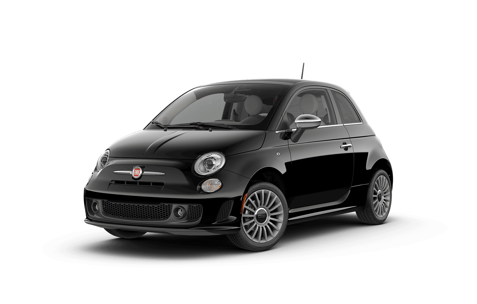 2019 FIAT 500 Full View in Black with Wheels