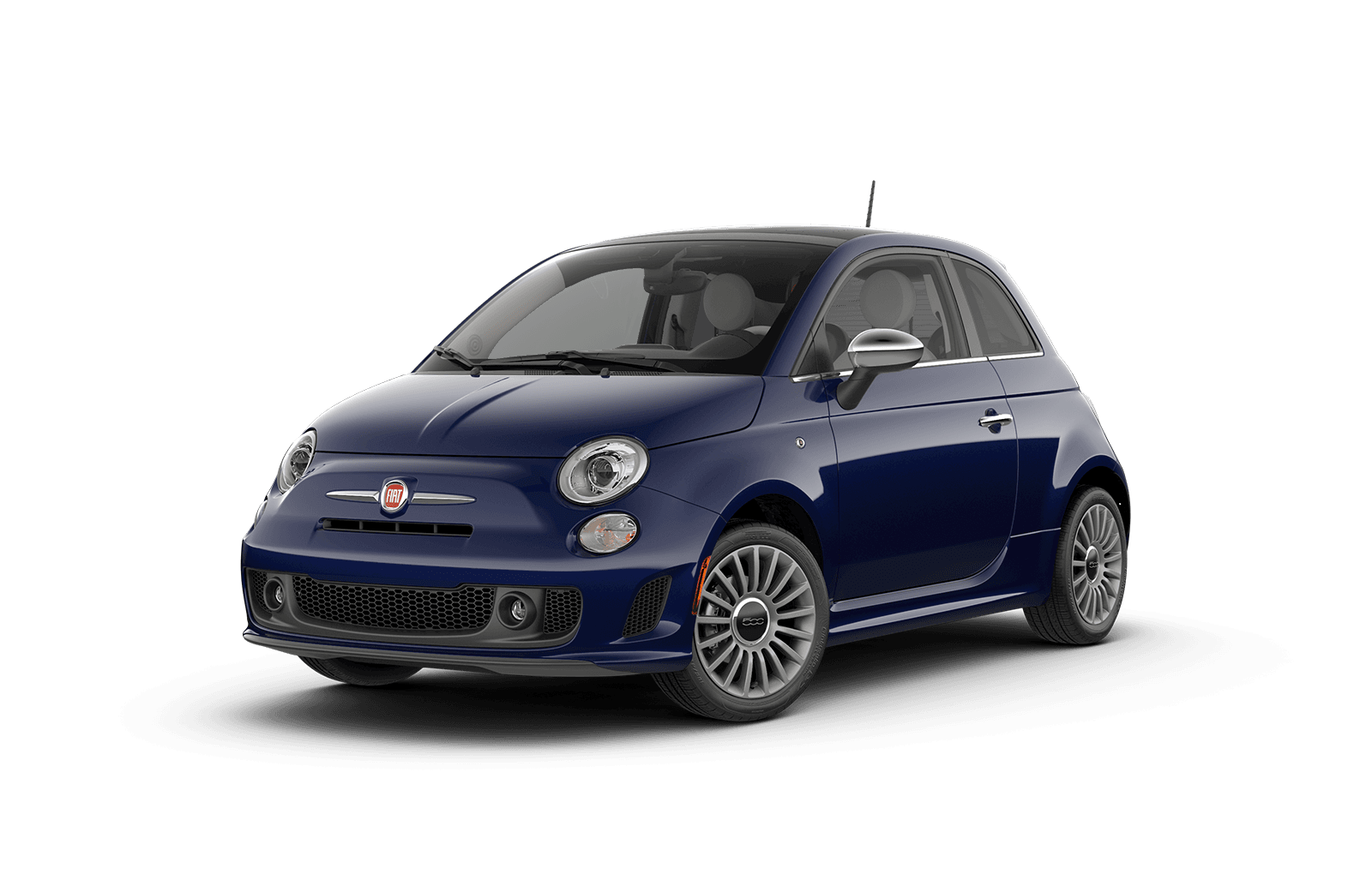 2019 FIAT 500 Full View in Navy Blue with Wheels