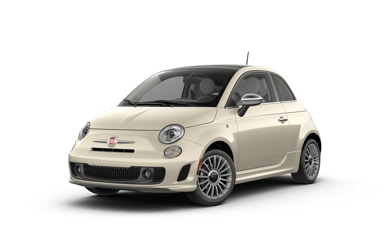 2019 FIAT 500 Full View in Off White with Wheels