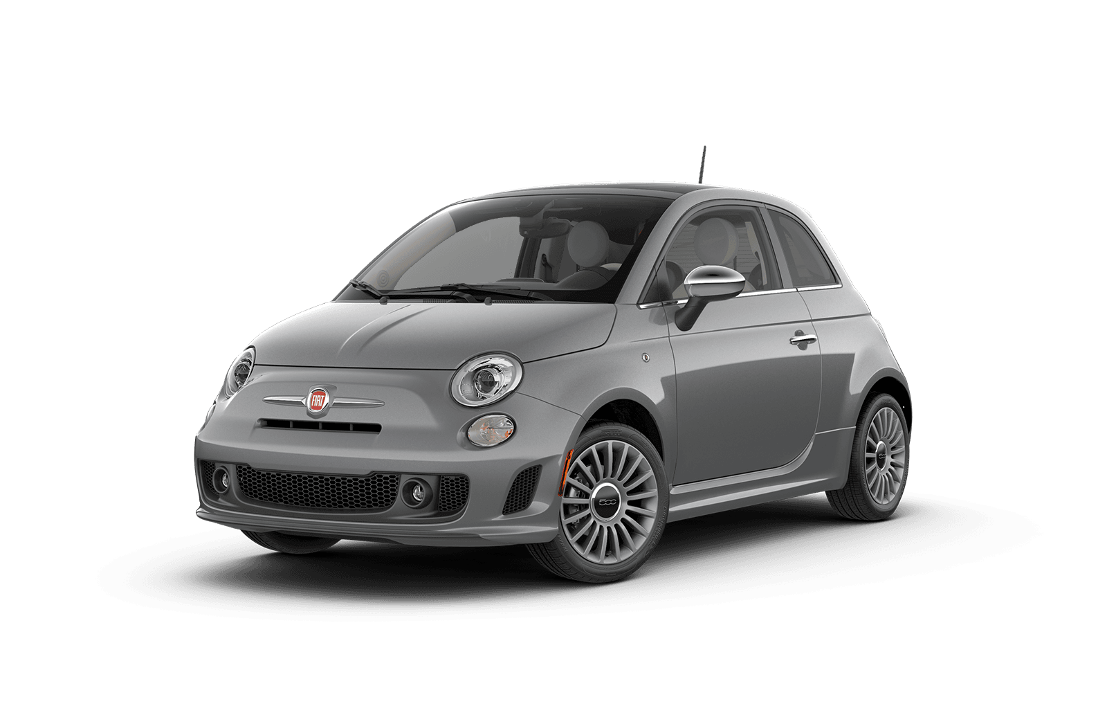 2019 FIAT 500 Full View in Silver with Wheels