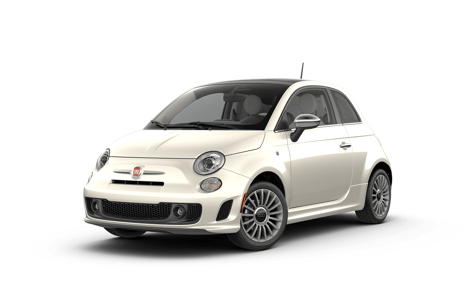 2019 FIAT 500 Full View in White with Wheels