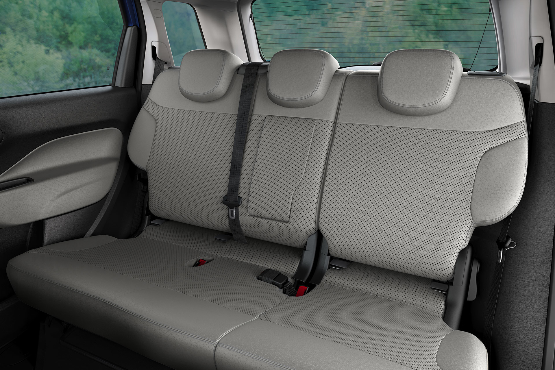 2019 Fiat 500L interior view of rear seats