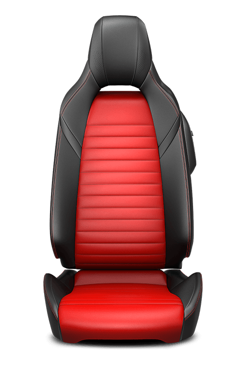 Leather-faced – Black and Red with Red double stitching