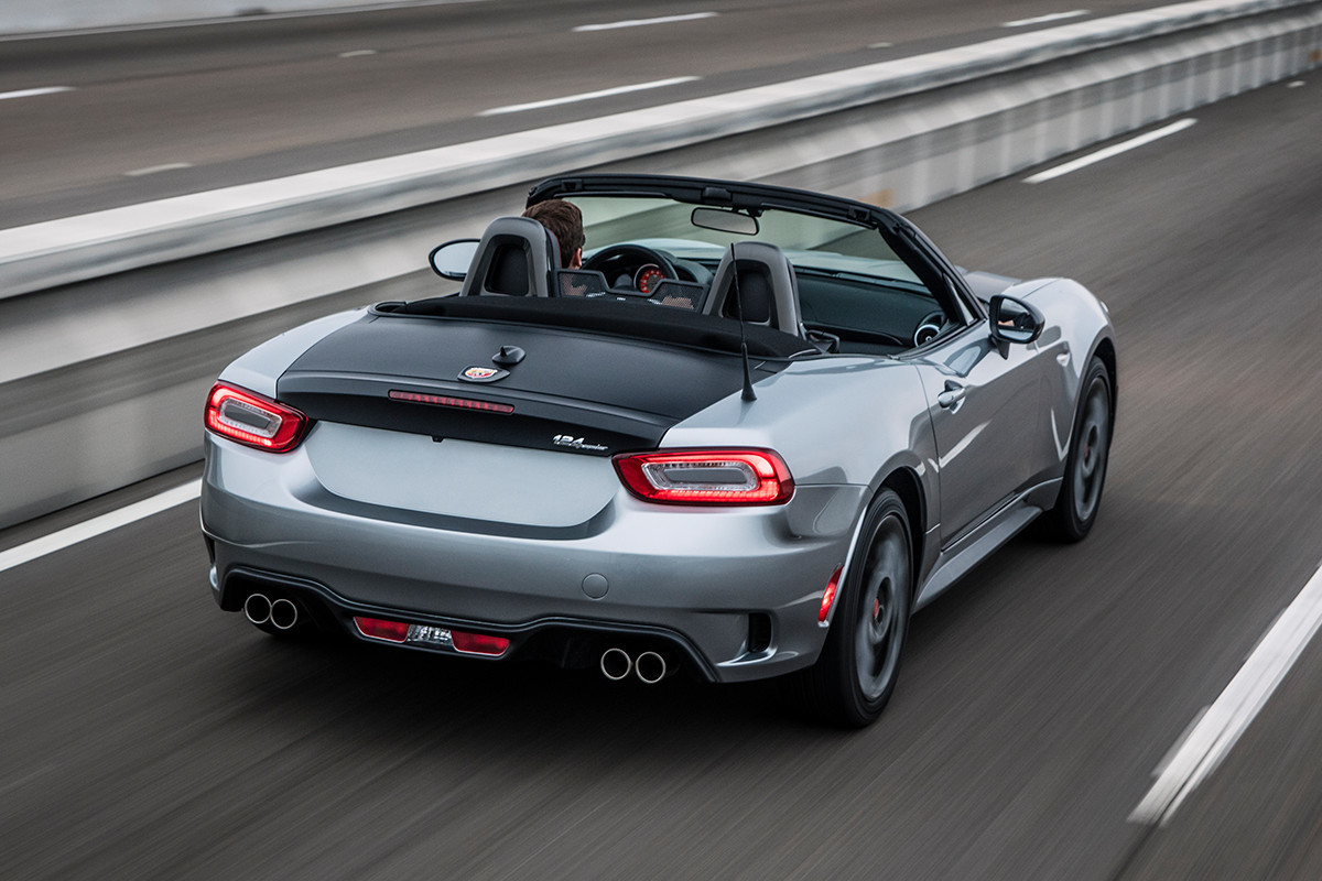 2018 Fiat 124 Spider Roadster side and rear safety sensors