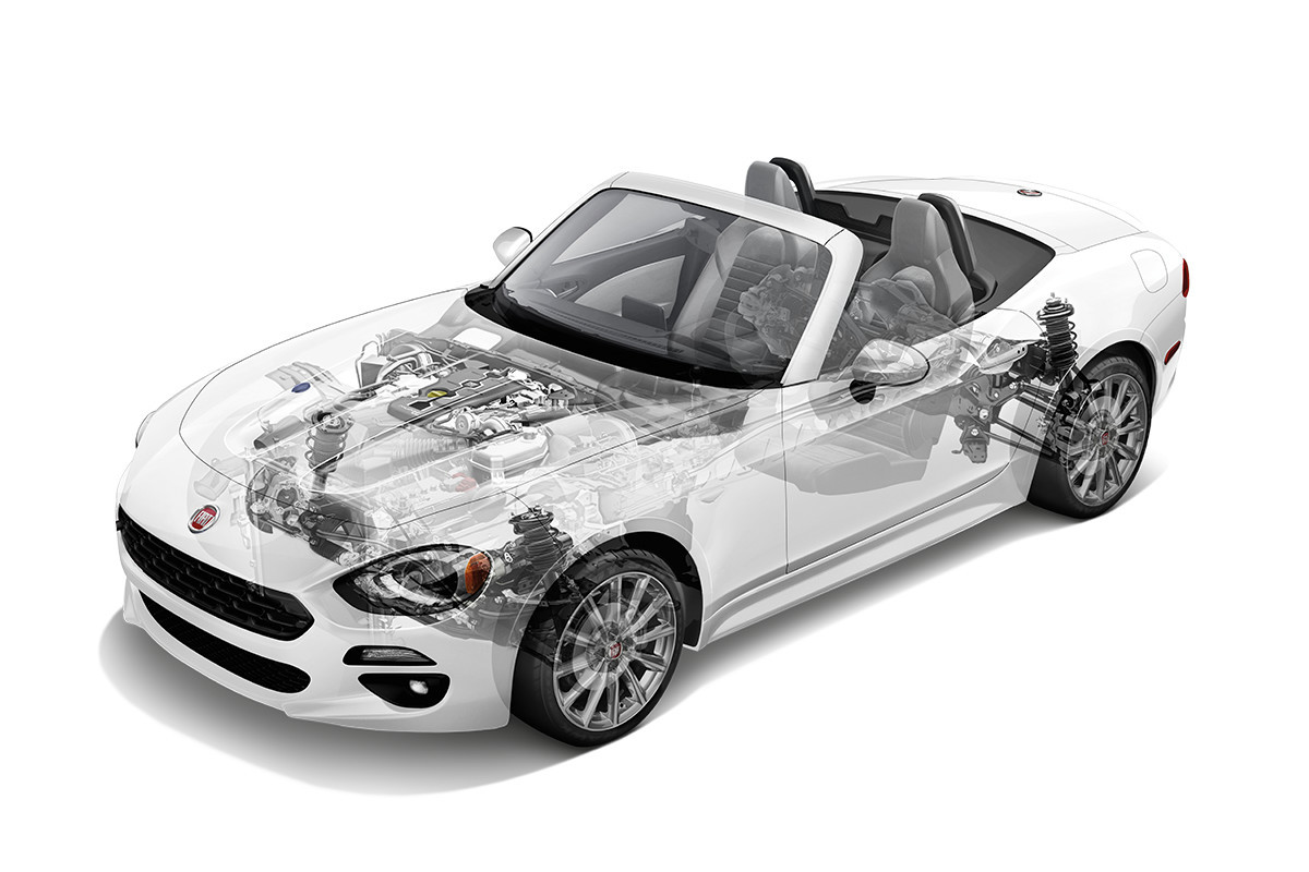 2018 Fiat 124 Spider Roadster high-strength steel for structural safety