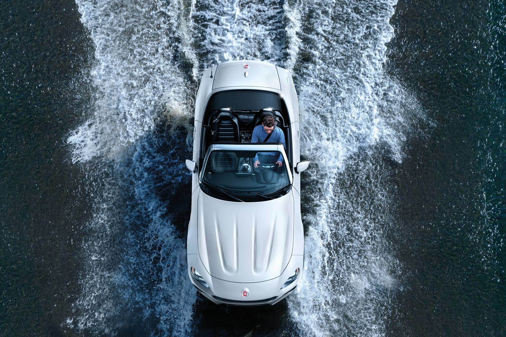 2018 fiat 124spider roadster gallery exterior topview white