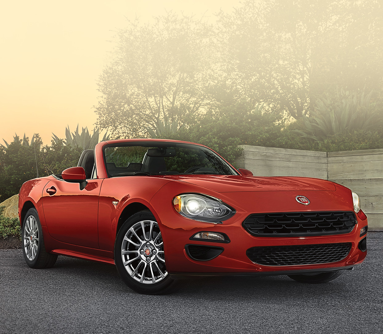 2018 Fiat 124 Spider Roadster side view red