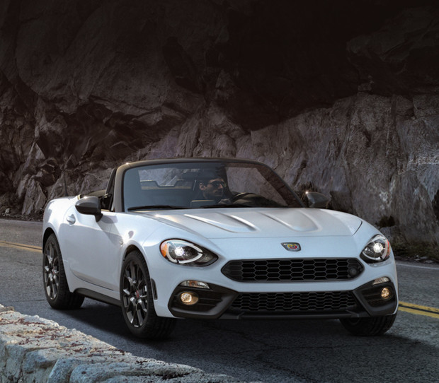 2018 Fiat 124 Spider Roadster front view white