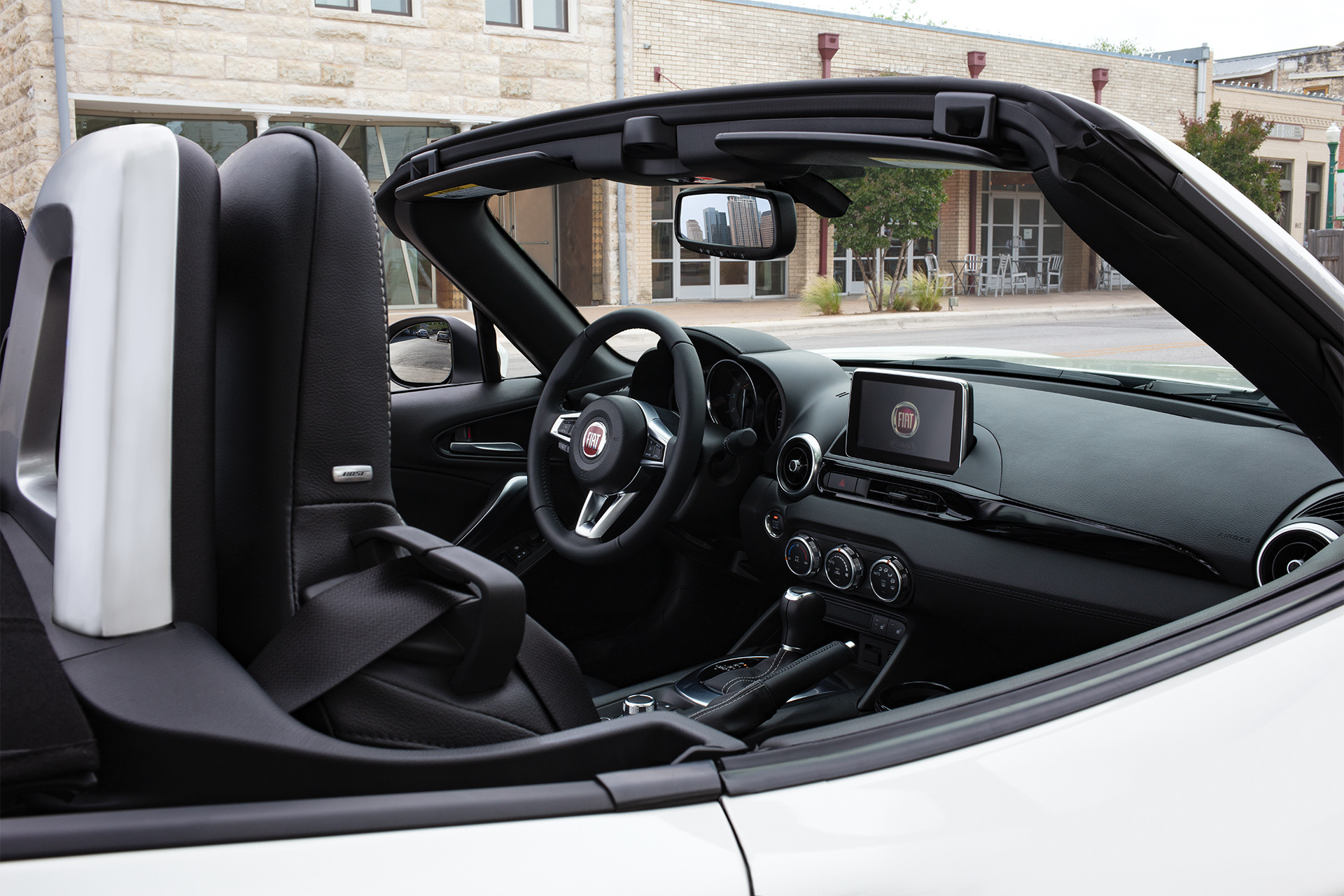 FIAT 124 Spider 2019 – photo de l'habitacle de la console avant