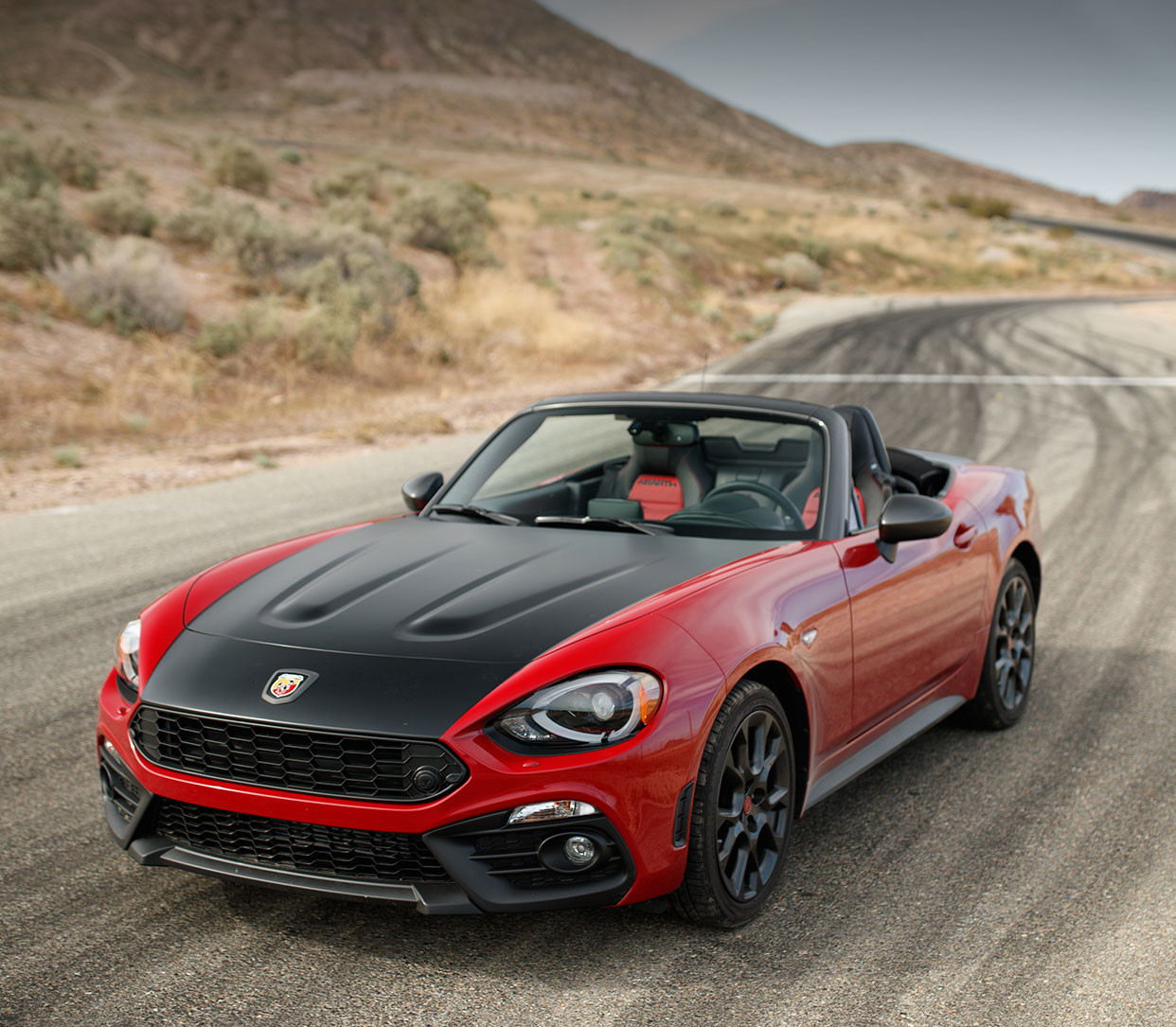 2019 124 Fiat Spider parked, shown in white