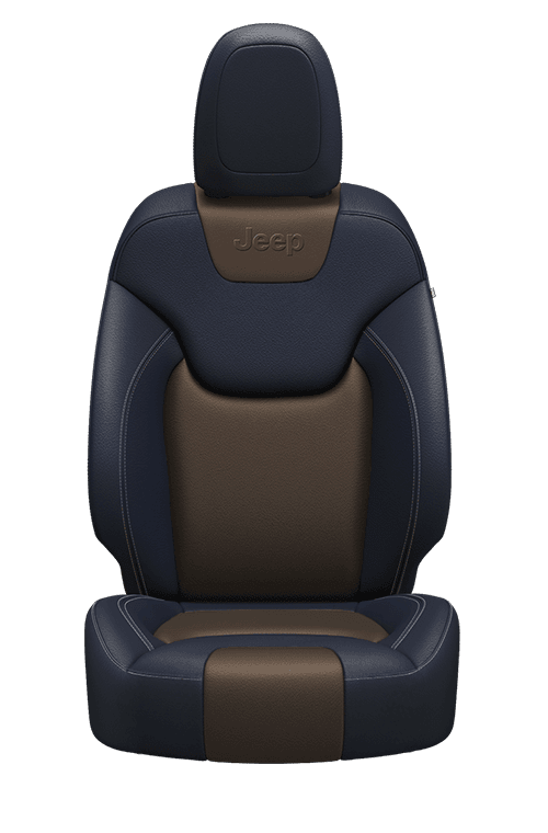 Nappa leather-faced – Indigo Blue/Jeep<sub>®</sub> Brown with Pearl accent stitching
