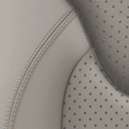 Nappa leather-faced with perforated inserts – Pearl with Sepia accent stitching