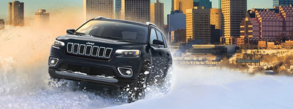 Jeep Cherokee Blue Side all new available 2.0L 1-4 Turbo Engine