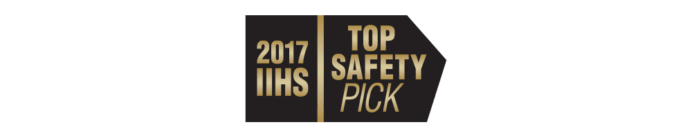 2017 IIHS TOP SAFETY PICK WITH OPTIONAL FRONT CRASH PREVENTION; APPLIES ONLY TO VEHICLES BUILT AFTER DECEMBER 2016
