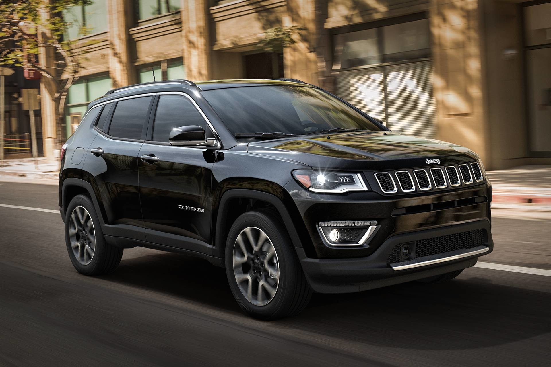 2019 Jeep Compass parked in the city