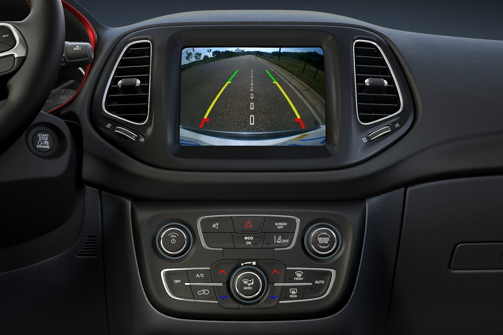 2019 Jeep Compass back-up camera screen