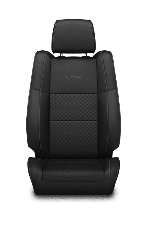 Natura Plus leather with perforated inserts – Black with Black embroidered Summit<sup>®</sup> logo, accent stitching and piping