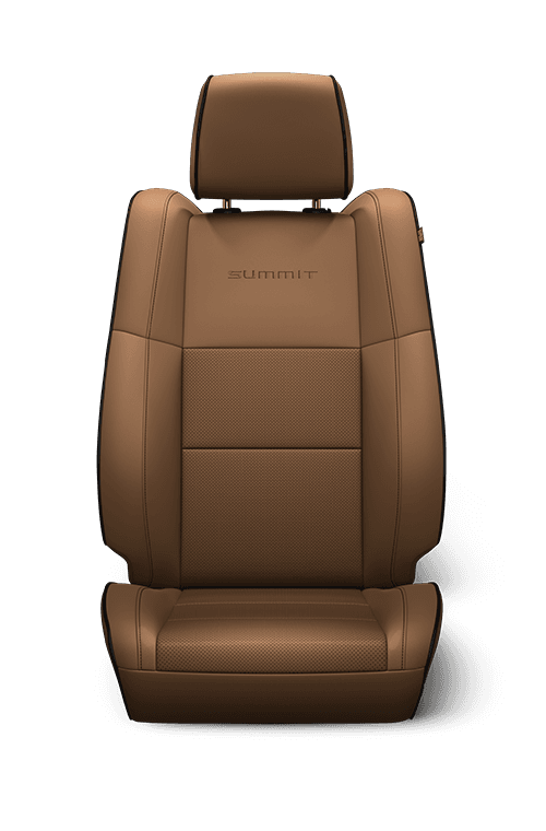 Natura Plus leather with perforated inserts - Tan with Black embroidered Summit<sup>®</sup> logo, accent stitching and piping