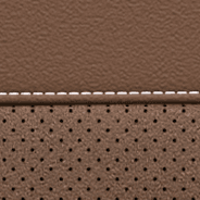 Nappa leather-faced with perforated suede inserts - Sepia with Silver embossed SRT<sup>®</sup>  or Trackhawk<sup>TM</sup> logo and accent stitching