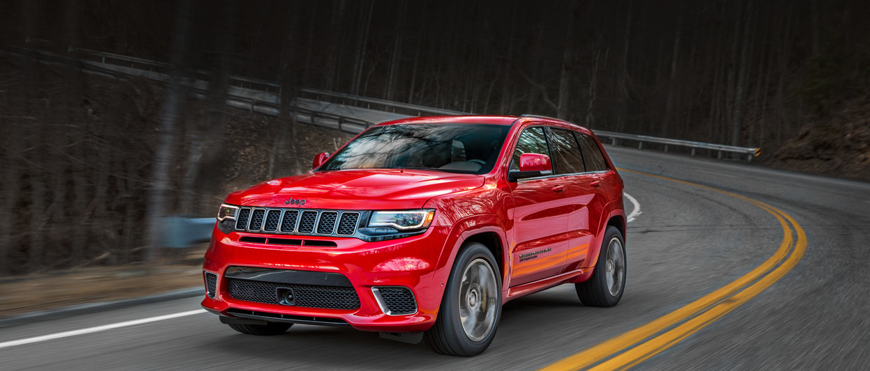 2018 Jeep Grand Cherokee SUV Trackhawk shown in red