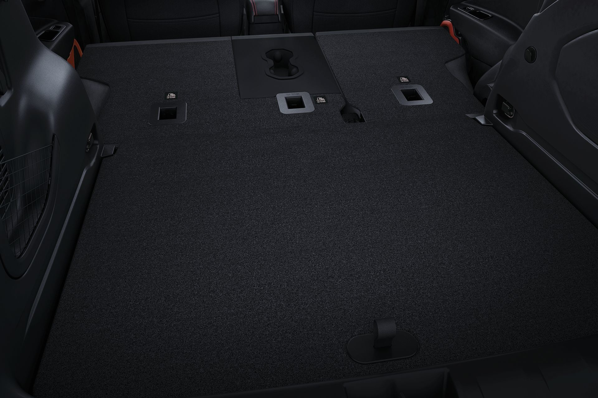 2018 Jeep Renegade interior cargo space with split folding rear seats