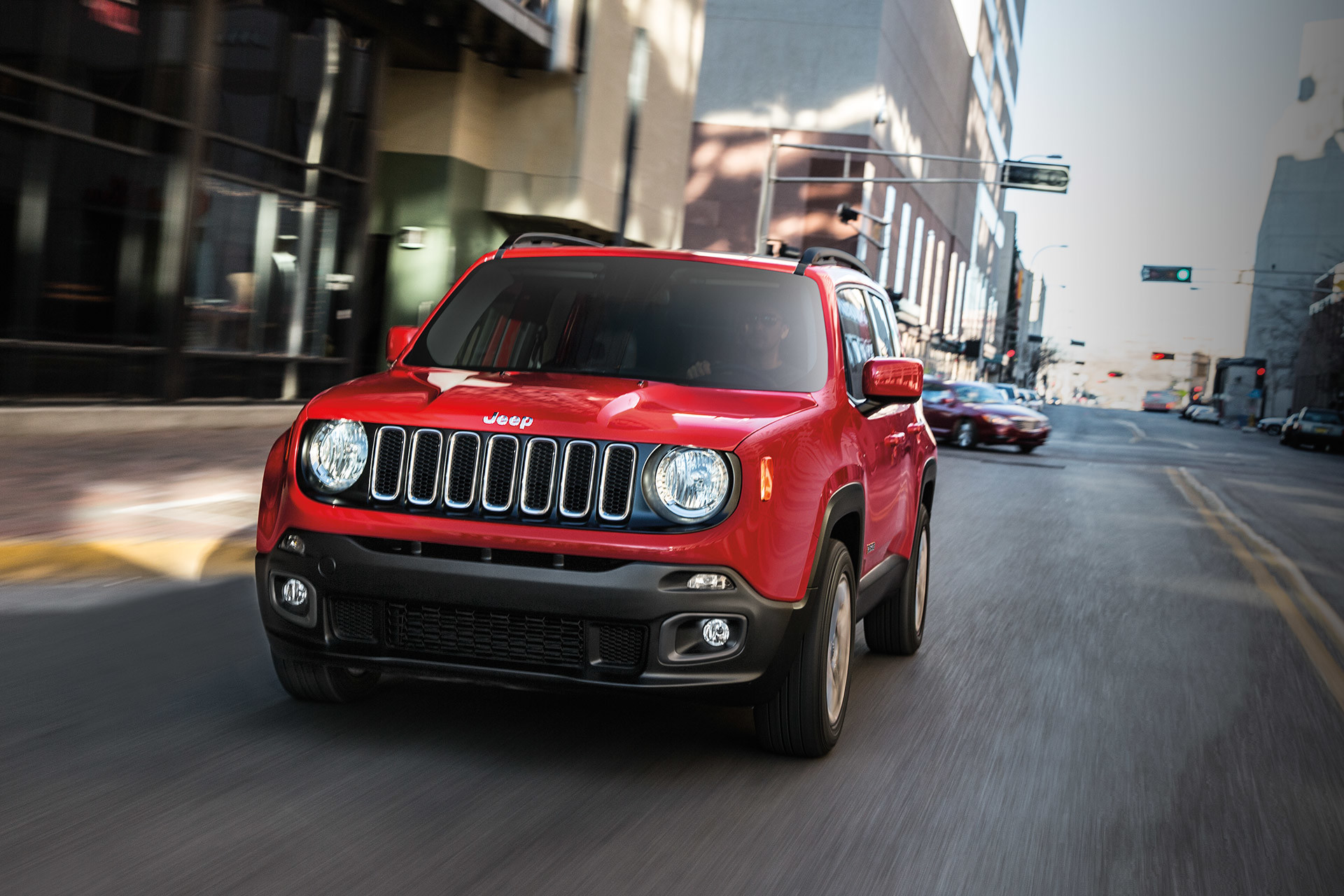 2018 Jeep Renegade small SUV shown in red