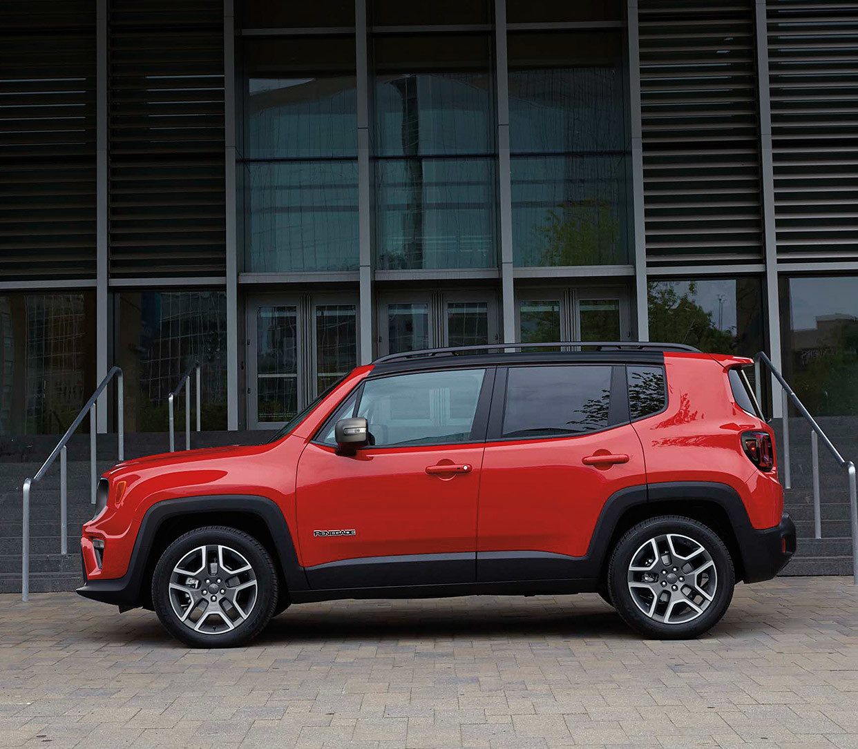 2019 Jeep Renegade red exterior parked