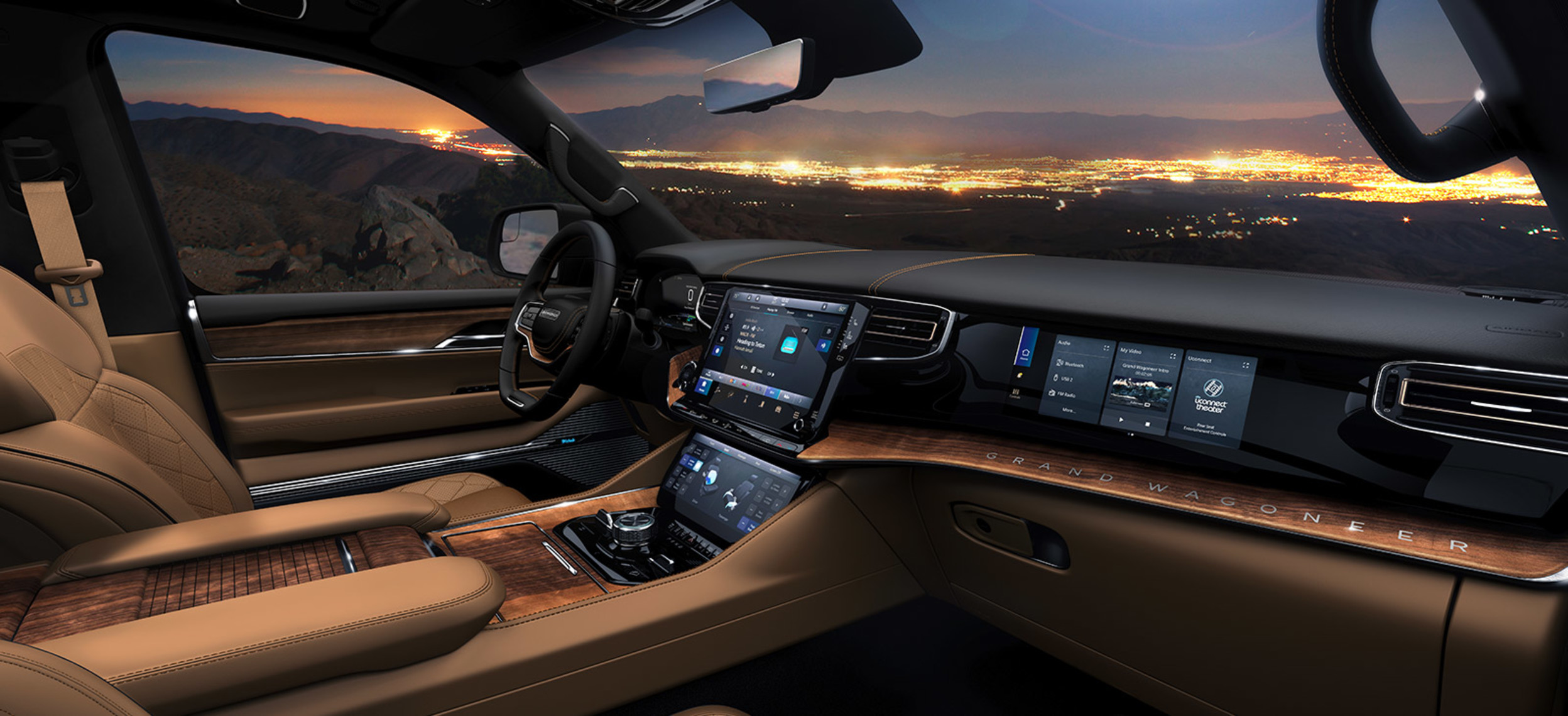 Interior view of the 2022 Grand Wagoneer