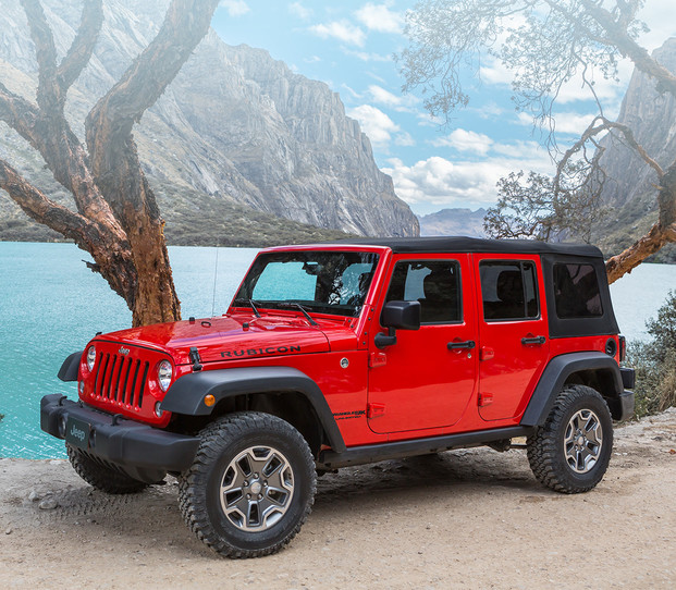 Jeep Wrangler Rubicon 2018 – rouge
