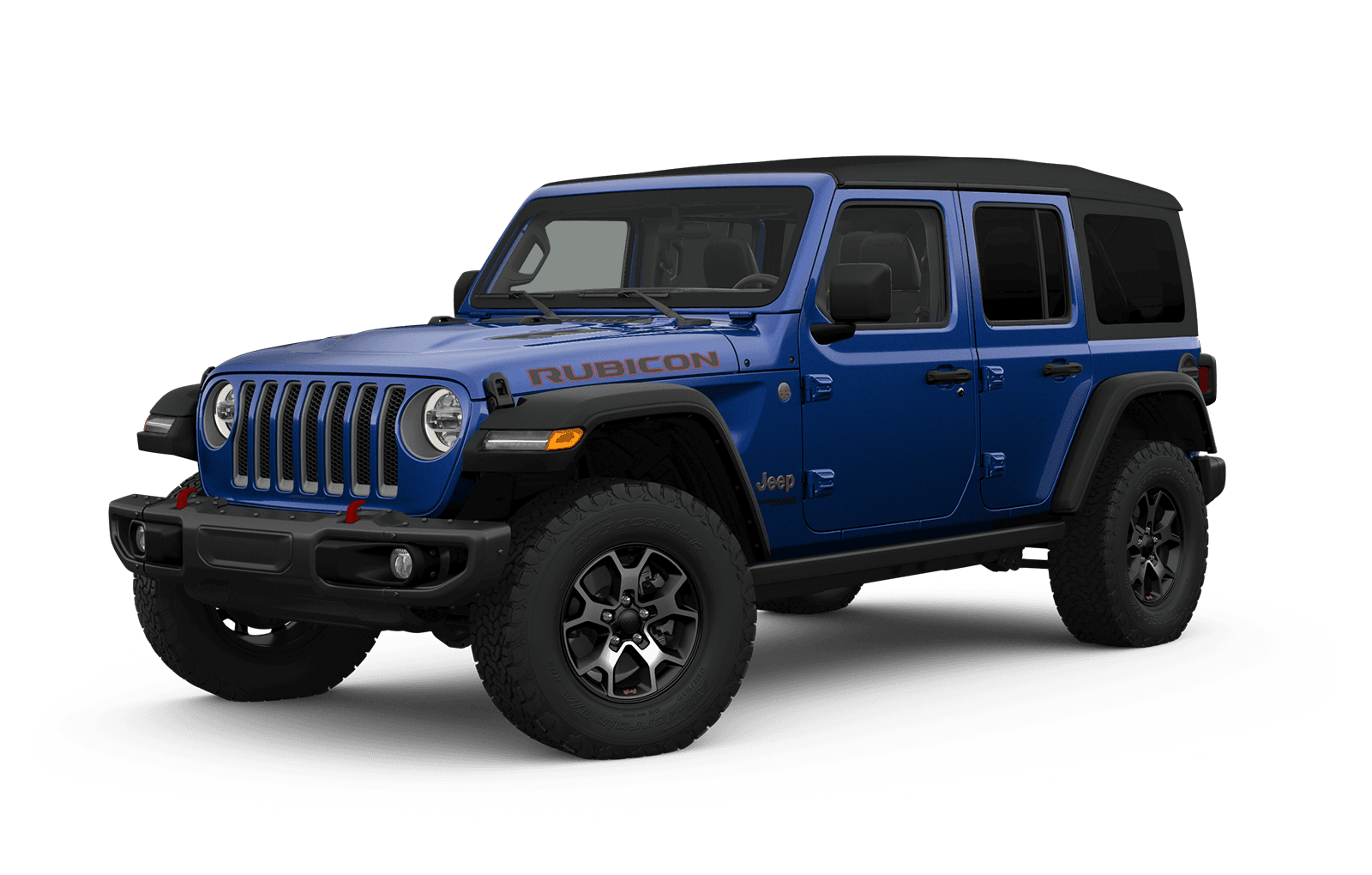 2019 Jeep Wrangler Full View in blue with Wheels
